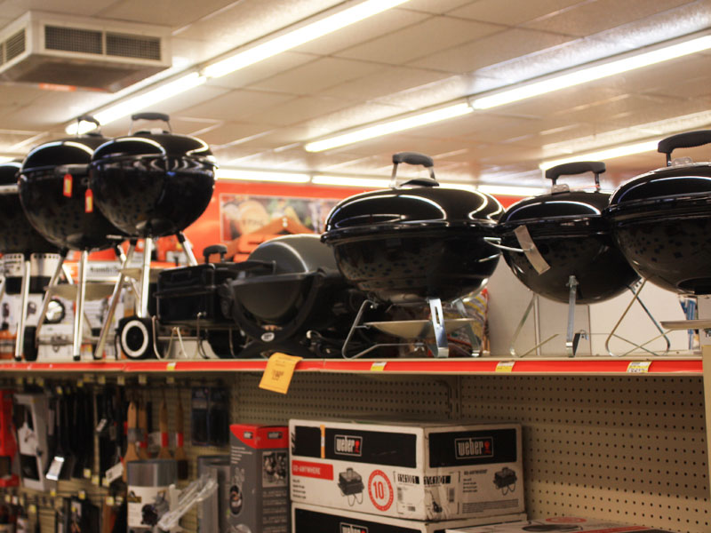 Charlie's Hardware grills and accessories