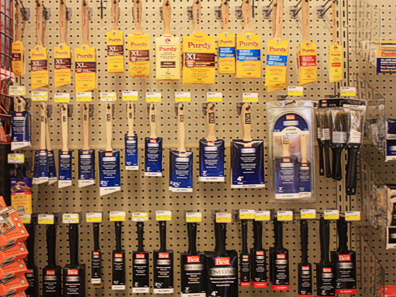 Charlie's Hardware paint and décor