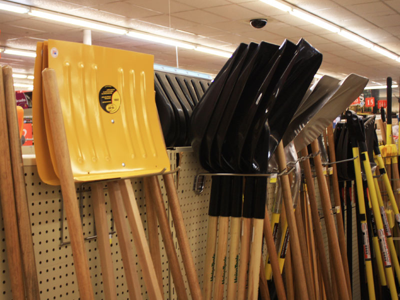 Charlie's Hardware snow removal tools and supplies