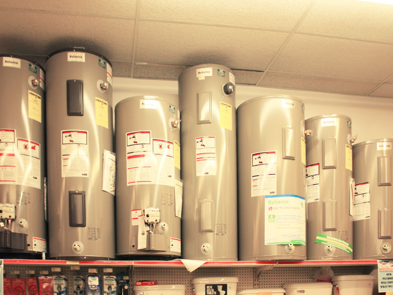Charlie's Hardware water heaters